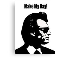 Clint Eastwood Dirty Harry Make My Day Canvas Print