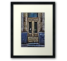 Abandoned White Door Fine Art Print Framed Print