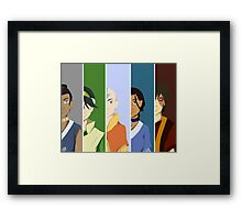 Team Avatar: The Last Airbender Framed Print