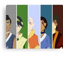 Team Avatar: The Last Airbender Canvas Print