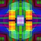 Be Happy, abstract fractal design by walstraasart