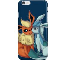 pokemon flareon glaceon chibi anime shirt iPhone Case/Skin