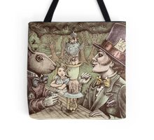 alice at the mad tea party Tote Bag