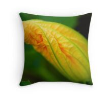 miss courgette Throw Pillow