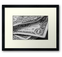 1.00 Bill Pencil Framed Print