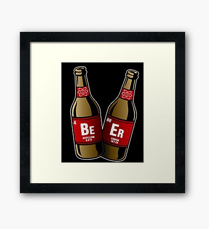 I drink beer periodically Framed Print