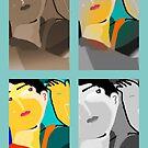 Portrait times 4 by Ana Johnson