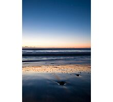 Ballyconnigar beach at dawn, County Wexford, Ireland Photographic Print