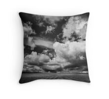 The runaway train came over the hill and she blew Throw Pillow