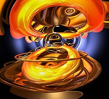 Solar Flare Abstract by Alexander Butler