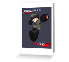 WWII style Mega Man Greeting Card