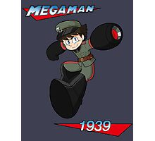 WWII style Mega Man Photographic Print
