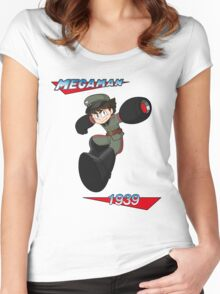 WWII style Mega Man Women's Fitted Scoop T-Shirt