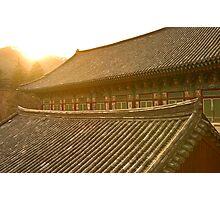 Temple Sunset - Haein Temple, South Korea Photographic Print