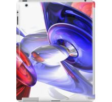 Red, White, and Blue Abstract iPad Case/Skin