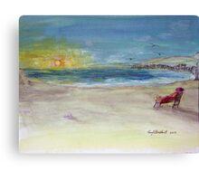Lady Ruth Marie Sunrise at the Beach Canvas Print