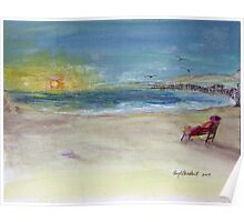 Lady Ruth Marie Sunrise at the Beach Poster