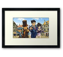 phoenix wright and professor layton Framed Print