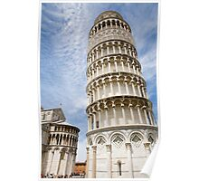 Leaning tower of pisa, Italy. Poster