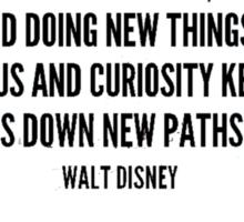 Walt Disney Quote Sticker