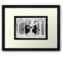 Dancing Silhouettes Framed Print