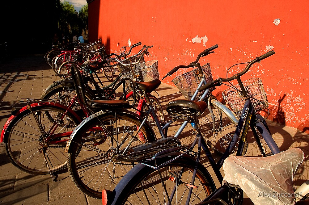 Bicycles - Beijing, China by Alex Zuccarelli