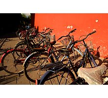 Bicycles - Beijing, China Photographic Print