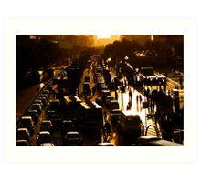 Rush-Hour Traffic - Xi'an, China Art Print