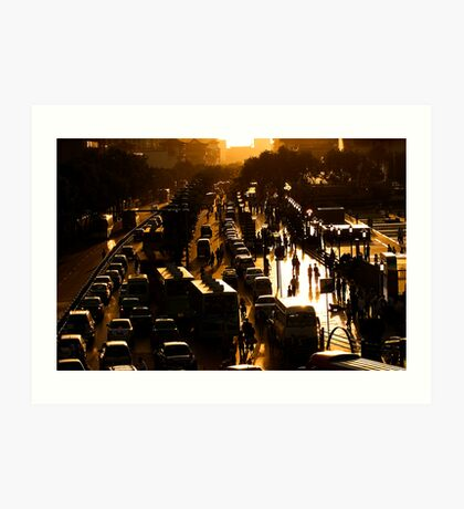 Rush-Hour Traffic - Xi'an, China Art Print