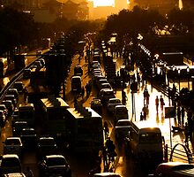 Rush-Hour Traffic - Xi'an, China by Alex Zuccarelli