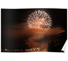 Fireworks over Lake George Poster