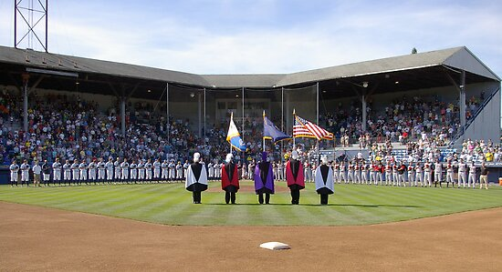 Eugene Emeralds' final game at Civic Stadium, opening ceremony. by Allan  Erickson