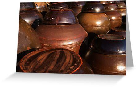 Kimchi Pots - Hapcheon, South Korea by Alex Zuccarelli