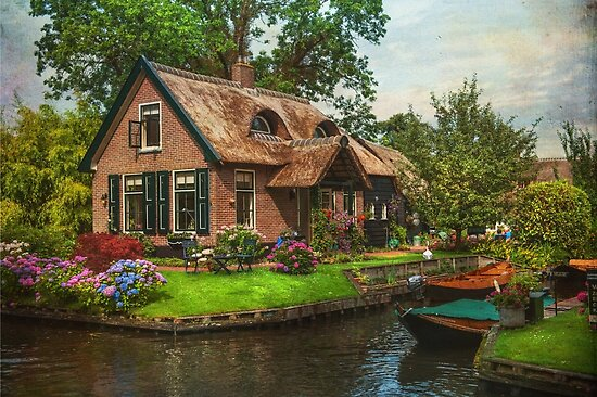 Fairytale House. Giethoorn. Venice of the North by JennyRainbow