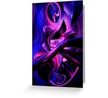 Fluorescent Passions Abstract Greeting Card