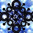 Black Design In A Mirrored Box by Ann Morgan