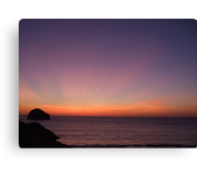Saturday Sunset.... Canvas Print