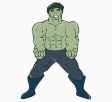 Green Angry Man Clenching Fist Cartoon T-Shirt