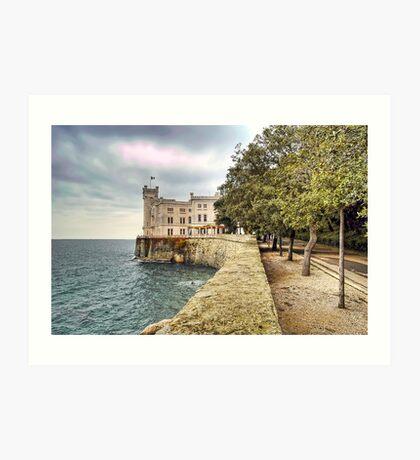 Italian Castle - Miramare Castle Art Print