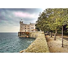 Italian Castle - Miramare Castle Photographic Print