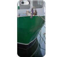 The Green Boat at Scarborough iPhone Case/Skin