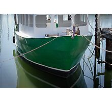 The Green Boat at Scarborough Photographic Print