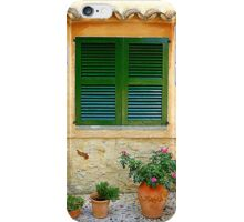 The Green Shutter With Pots...............................Majorca iPhone Case/Skin