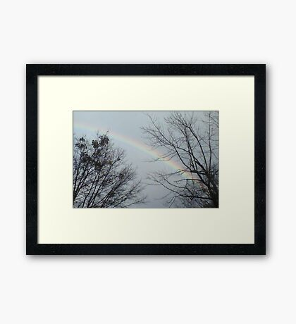 A Rainbow of Hope Framed Print