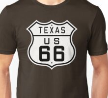 Texas Route 66 Unisex T-Shirt