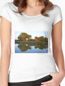 Reflections at Sunset Women's Fitted Scoop T-Shirt