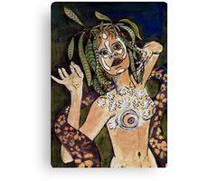 """Visual Diary  No:1 - """"Green Girl"""" Canvas Print"""