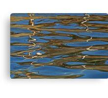 gold ribbon Canvas Print