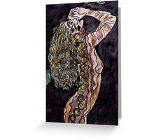 Visual Diary 2 - Night Goddess Greeting Card