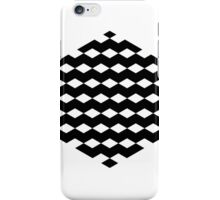 Black Hexagon with 3D Cubes iPhone Case/Skin
